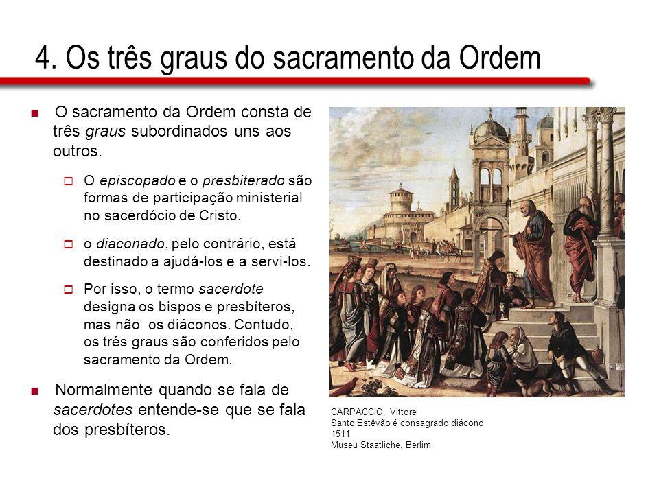 4. Os três graus do sacramento da Ordem