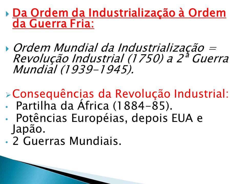 Da Ordem da Industrialização à Ordem da Guerra Fria: