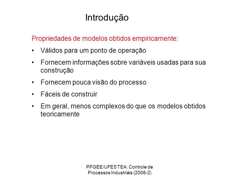 PPGEE/UFES TEA: Controle de Processos Industriais (2006-2)