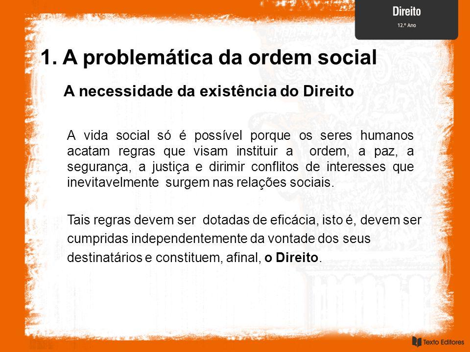 1. A problemática da ordem social