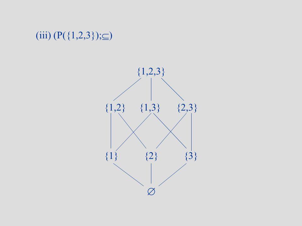 (iii) (P({1,2,3});) {1,2,3} {1,2} {1,3} {2,3} {1} {2} {3} 
