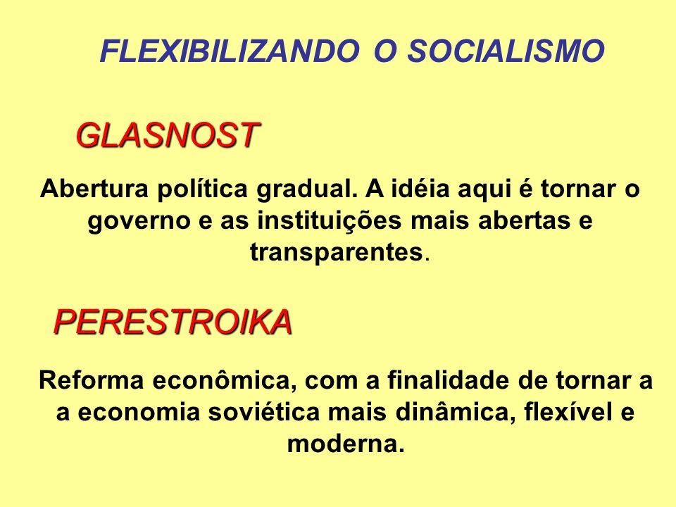 FLEXIBILIZANDO O SOCIALISMO