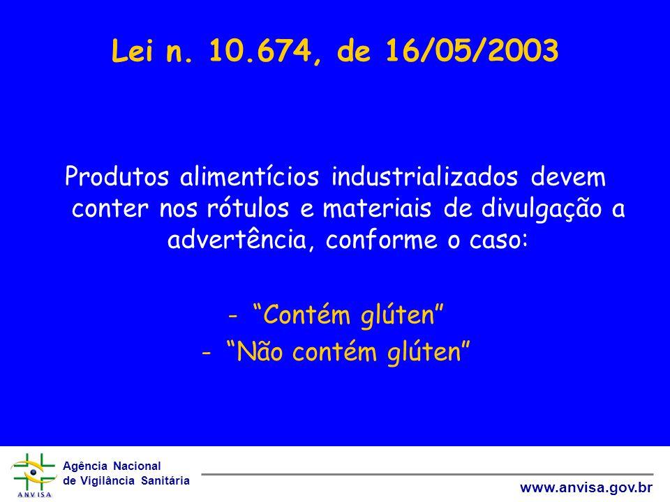 Lei n. 10.674, de 16/05/2003