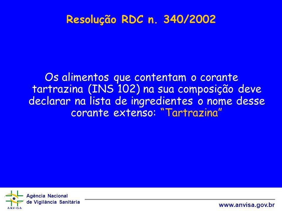 Resolução RDC n. 340/2002