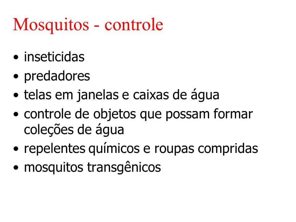 Mosquitos - controle inseticidas predadores