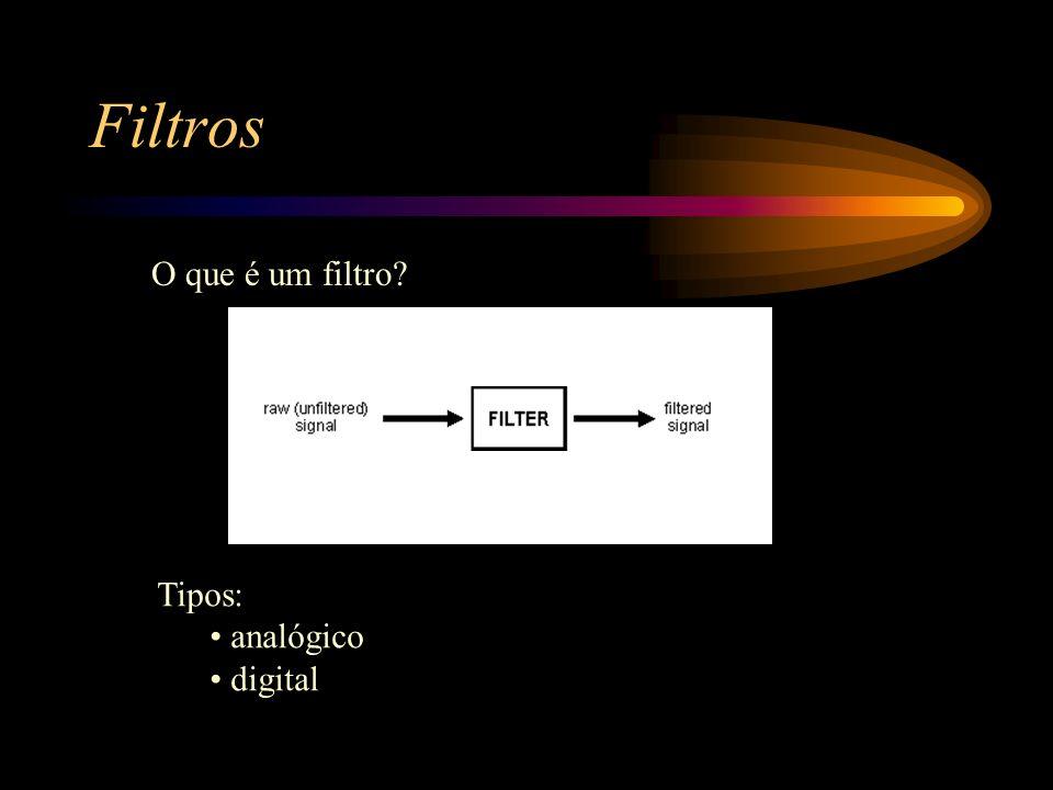 Filtros O que é um filtro Tipos: analógico digital