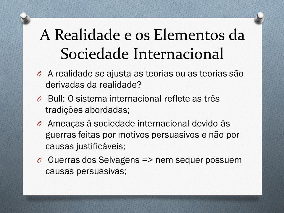 A Realidade e os Elementos da Sociedade Internacional