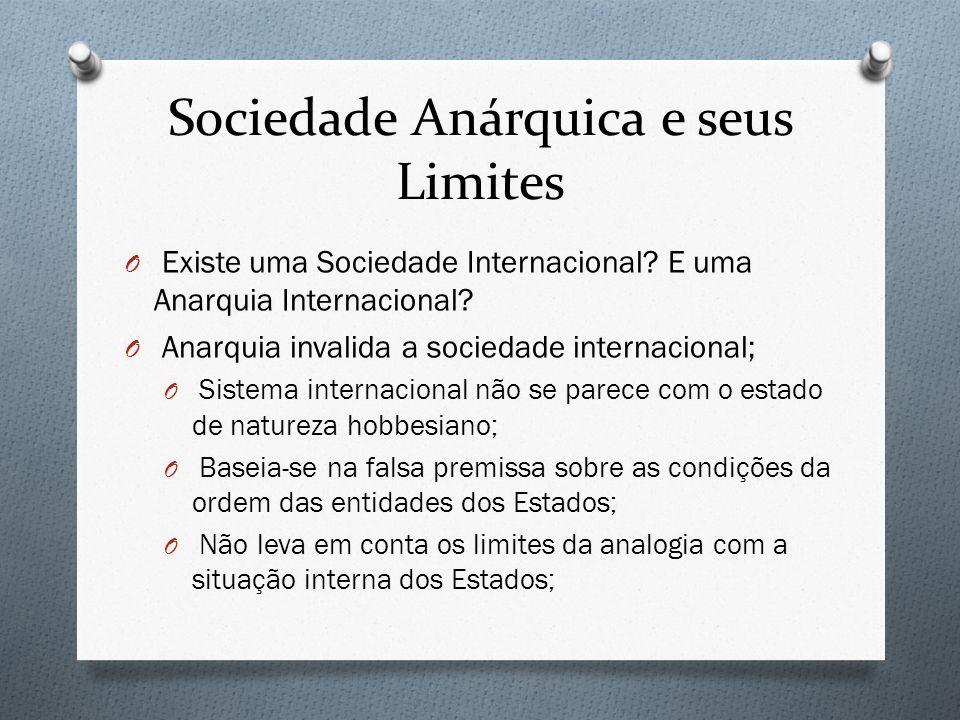 Sociedade Anárquica e seus Limites