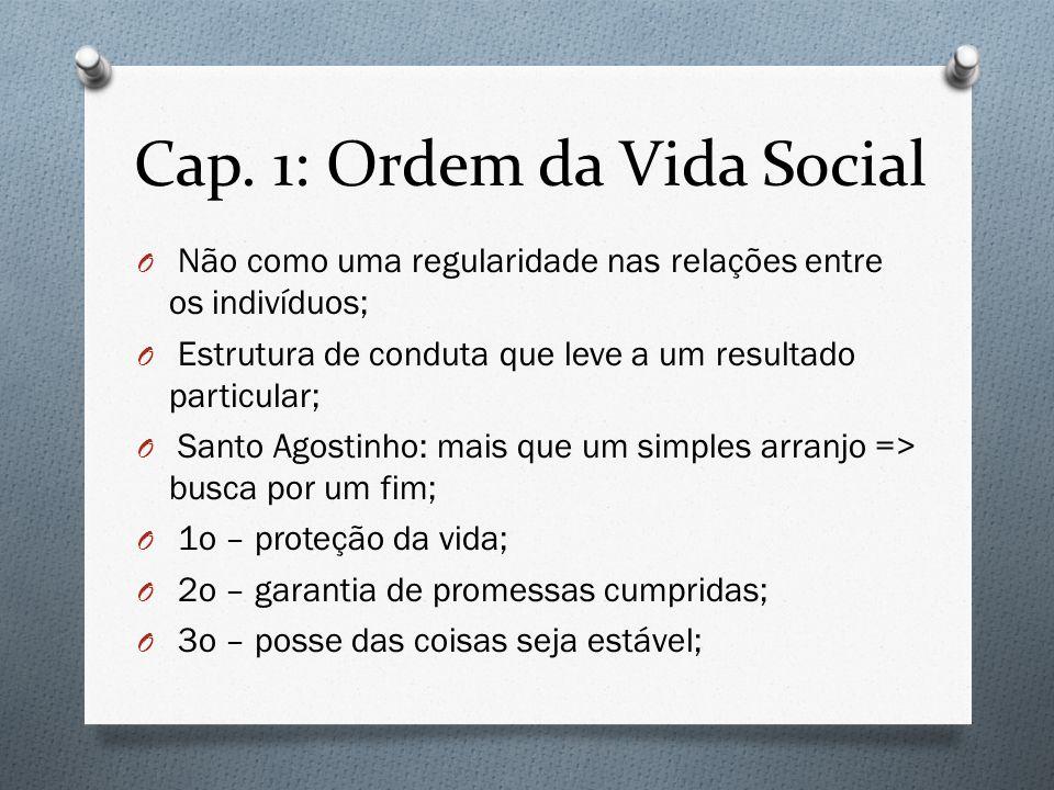 Cap. 1: Ordem da Vida Social