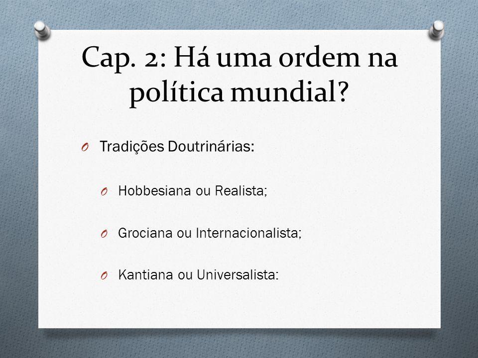 Cap. 2: Há uma ordem na política mundial