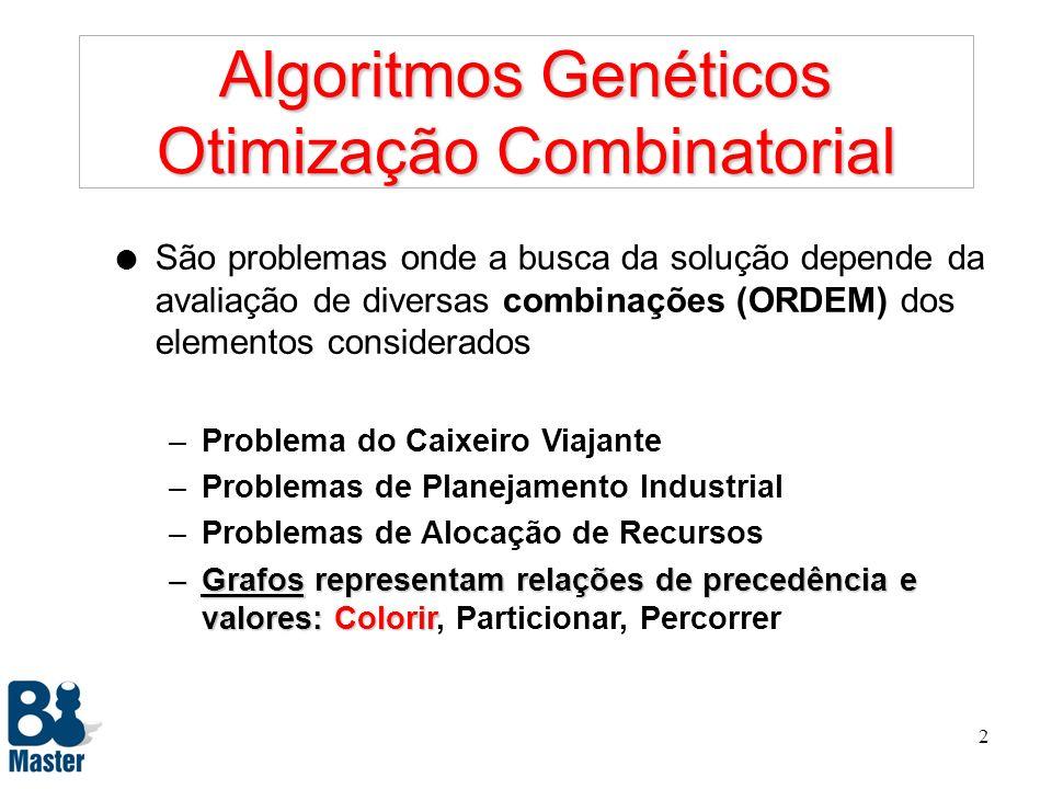 Algoritmos Genéticos Otimização Combinatorial