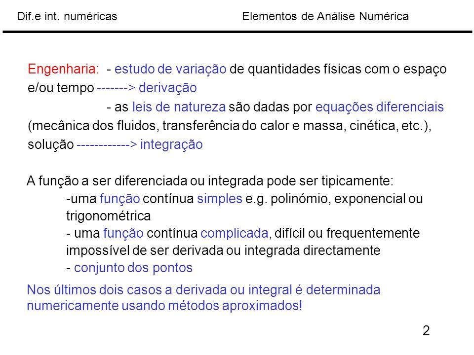 Engenharia: - estudo de variação de quantidades físicas com o espaço e/ou tempo -------> derivação