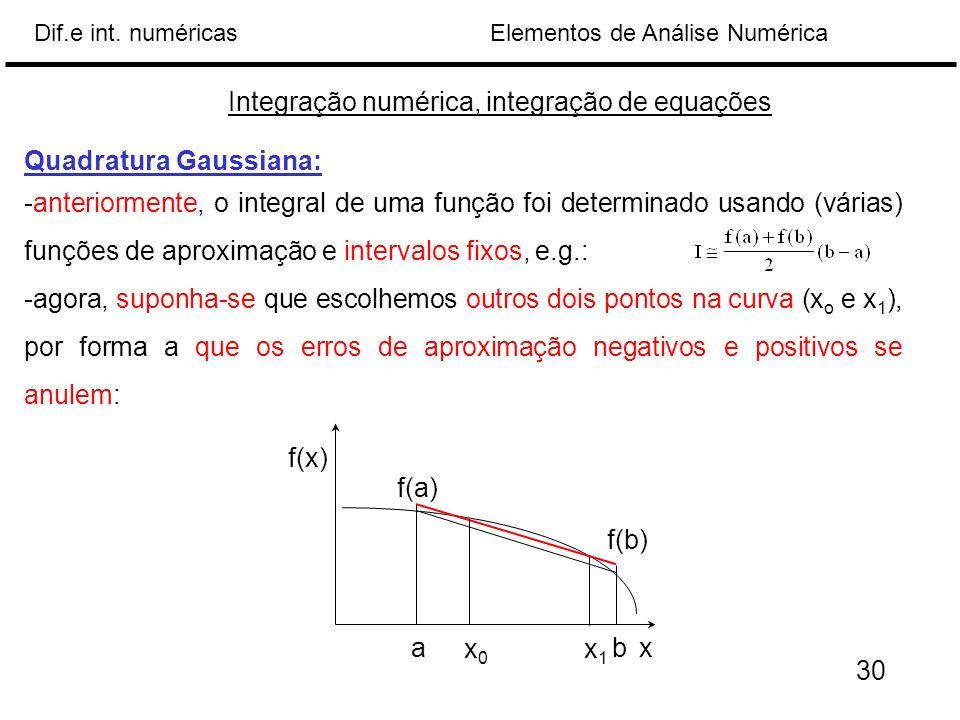 Integração numérica, integração de equações