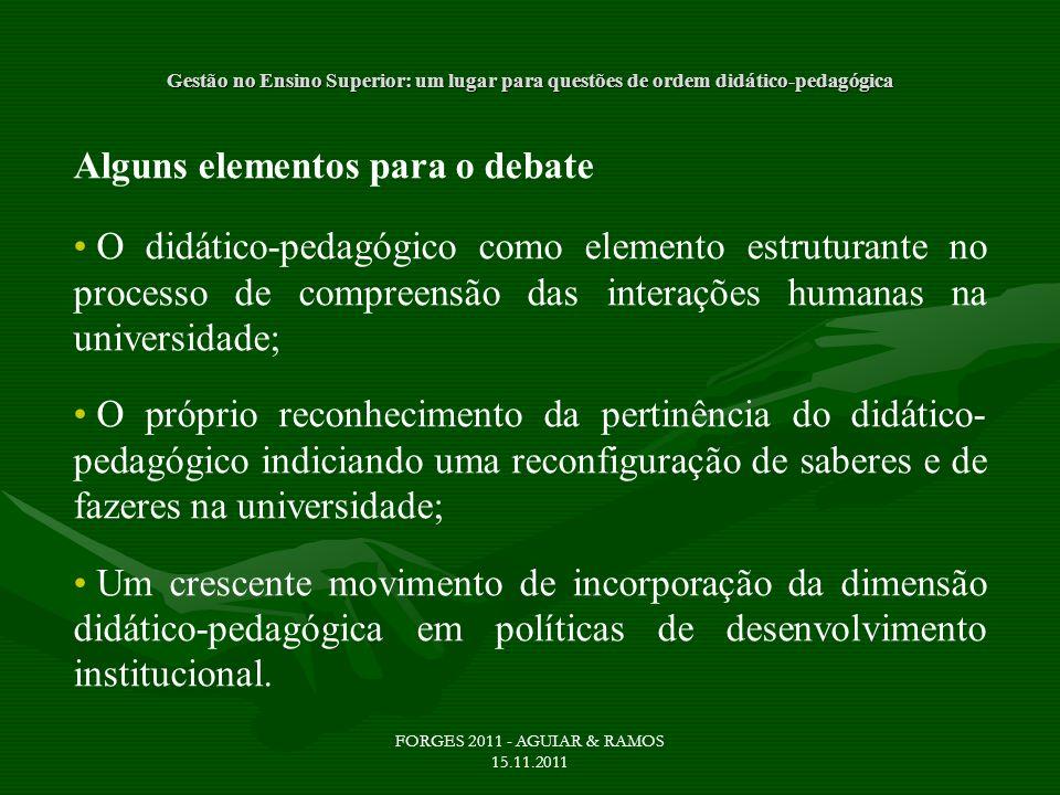 Alguns elementos para o debate