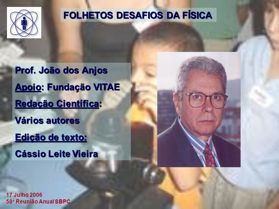 FOLHETOS DESAFIOS DA FÍSICA