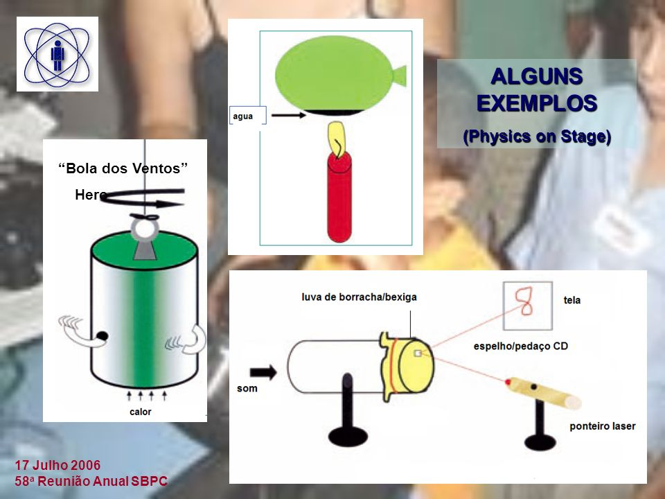 ALGUNS EXEMPLOS (Physics on Stage) Bola dos Ventos Hero