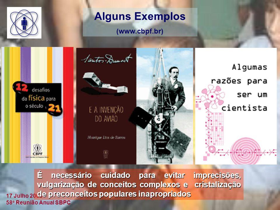 Alguns Exemplos (www.cbpf.br)