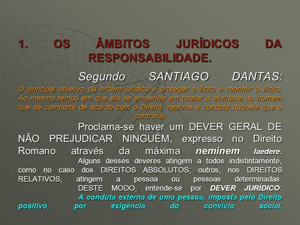 1. OS ÂMBITOS JURÍDICOS DA RESPONSABILIDADE