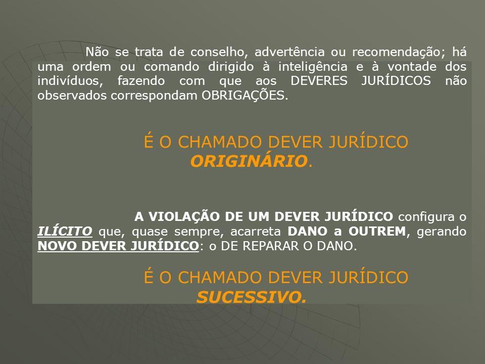 É O CHAMADO DEVER JURÍDICO ORIGINÁRIO.