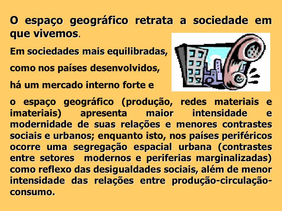 O espaço geográfico retrata a sociedade em que vivemos.