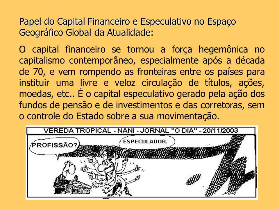 Papel do Capital Financeiro e Especulativo no Espaço Geográfico Global da Atualidade: