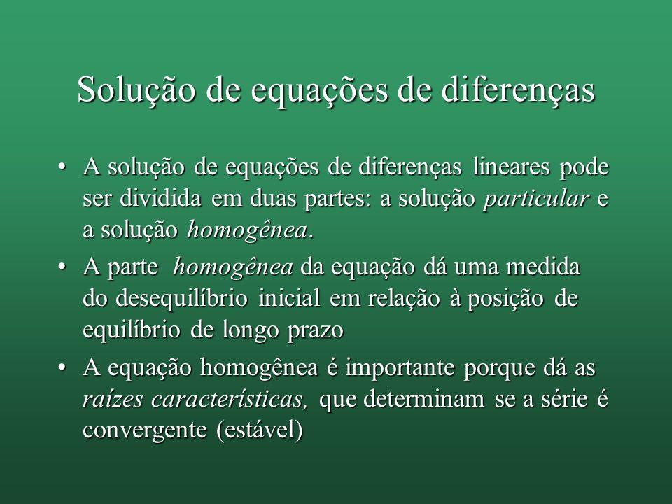Solução de equações de diferenças