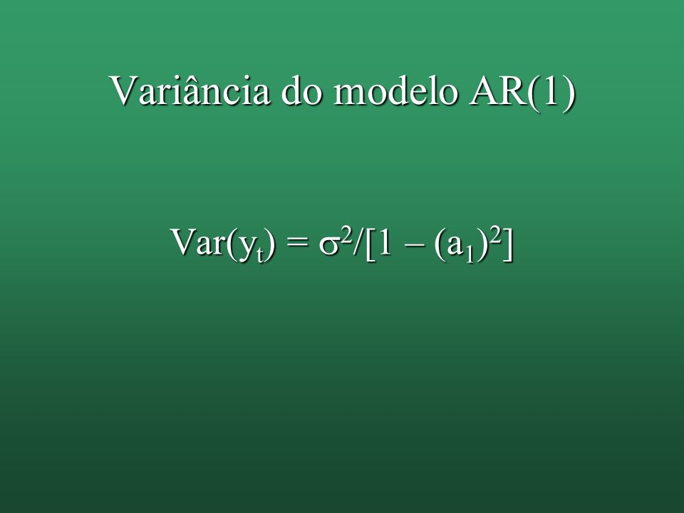 Variância do modelo AR(1)