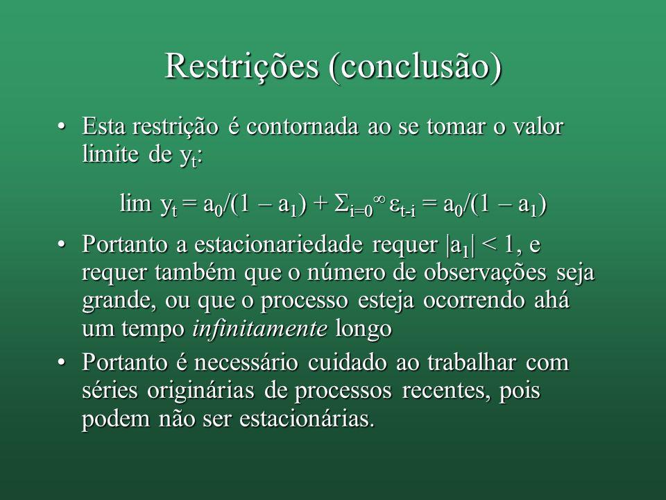 Restrições (conclusão)