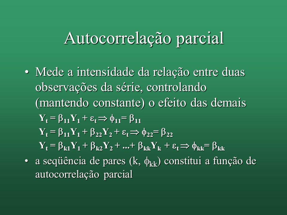 Autocorrelação parcial