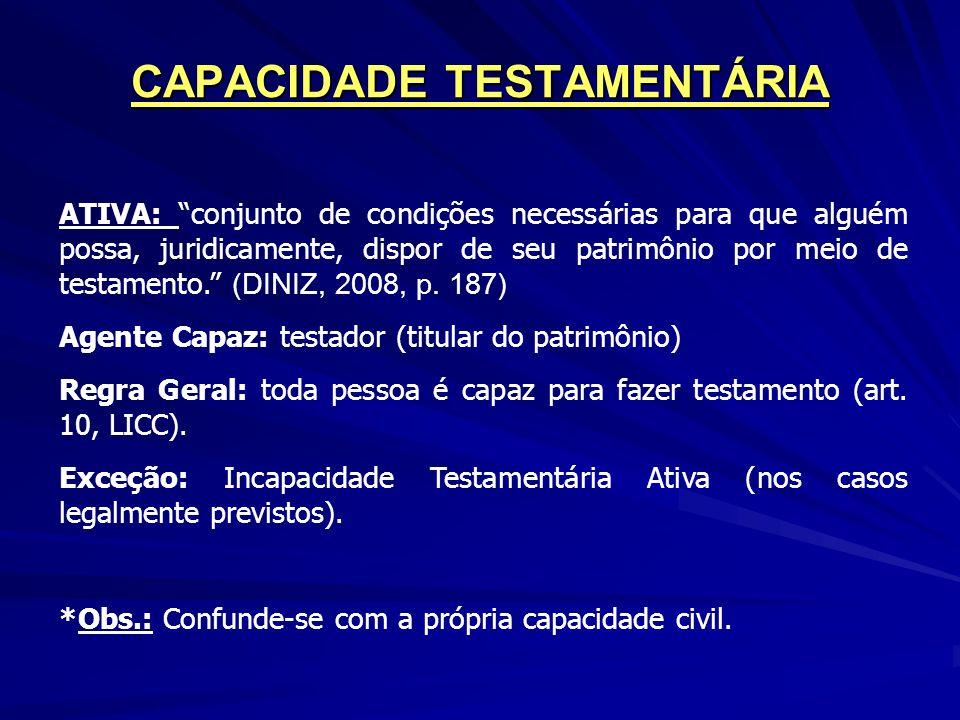 CAPACIDADE TESTAMENTÁRIA