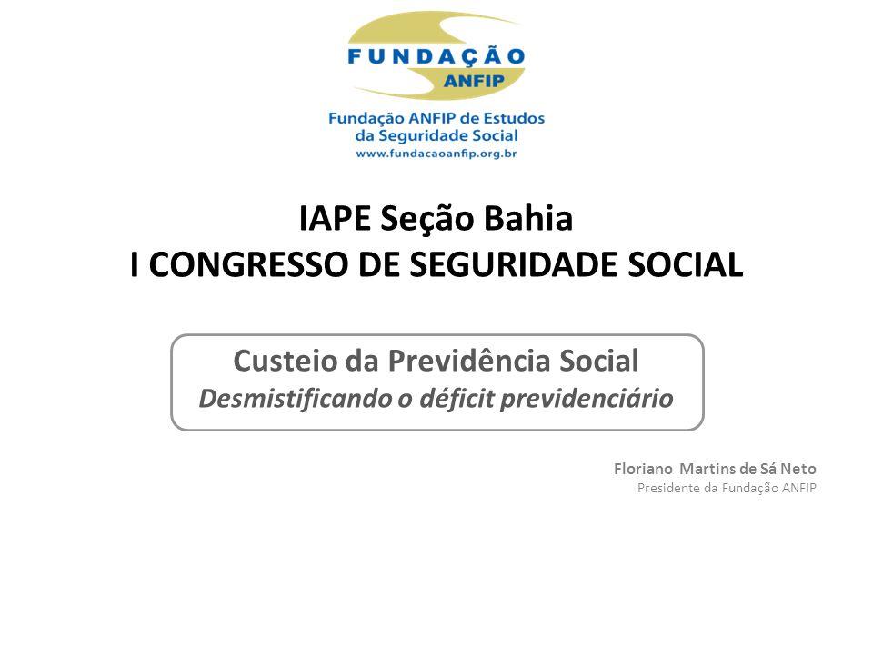 IAPE Seção Bahia I CONGRESSO DE SEGURIDADE SOCIAL