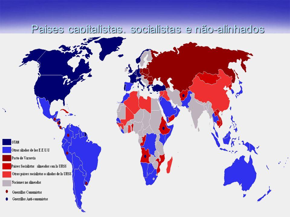 Paises capitalistas, socialistas e não-alinhados