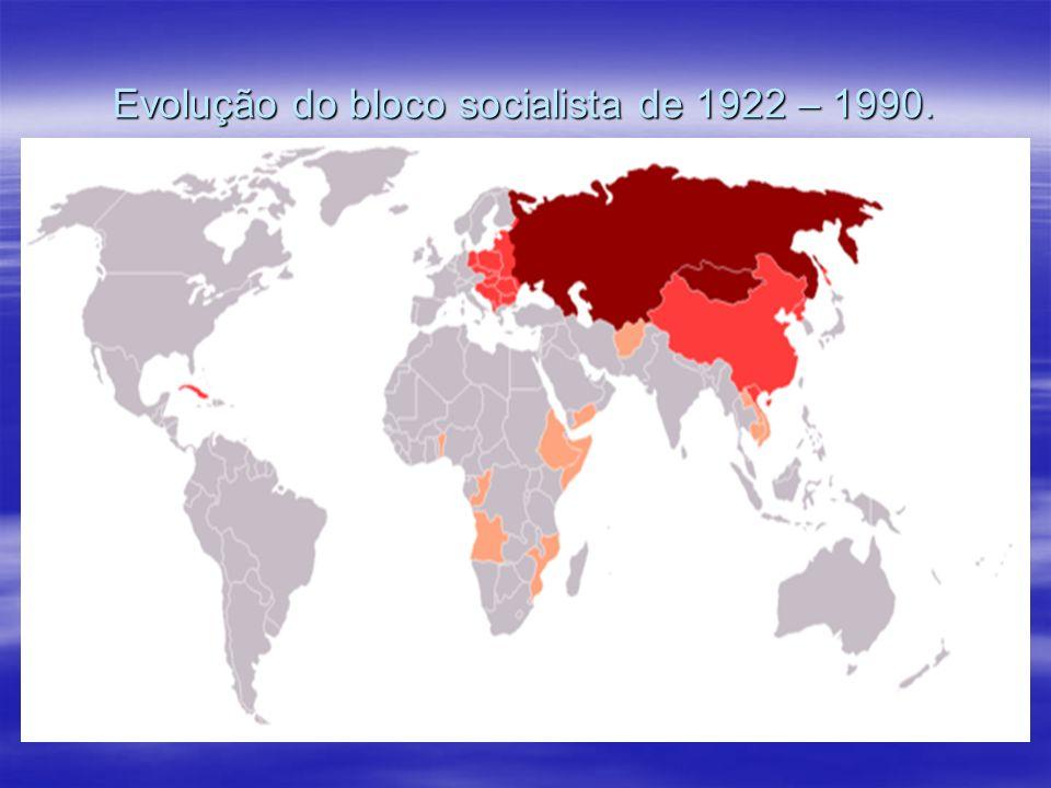 Evolução do bloco socialista de 1922 – 1990.