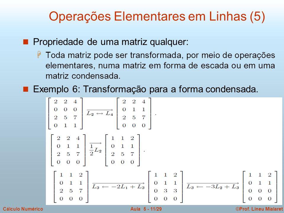 Operações Elementares em Linhas (5)