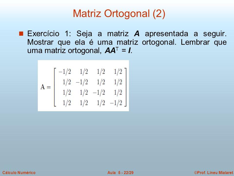 Matriz Ortogonal (2)