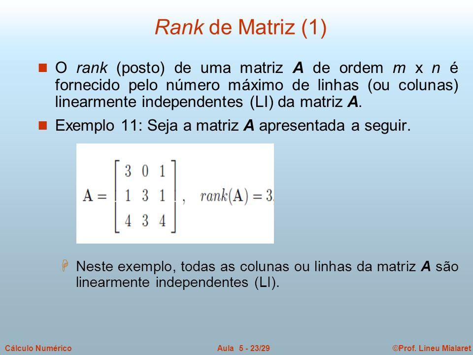Rank de Matriz (1)