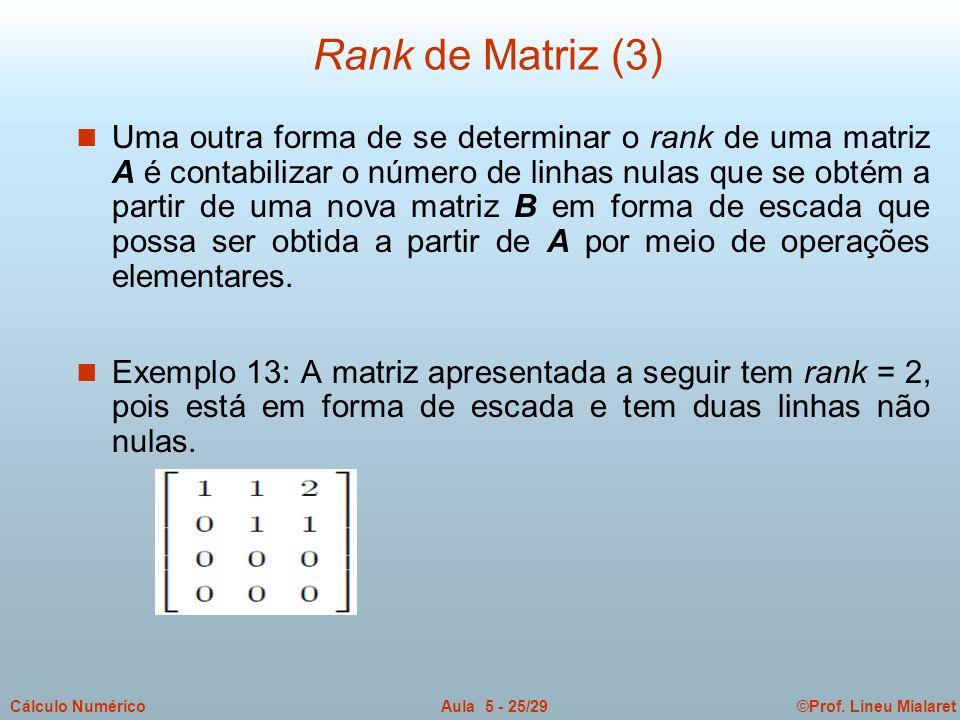 Rank de Matriz (3)