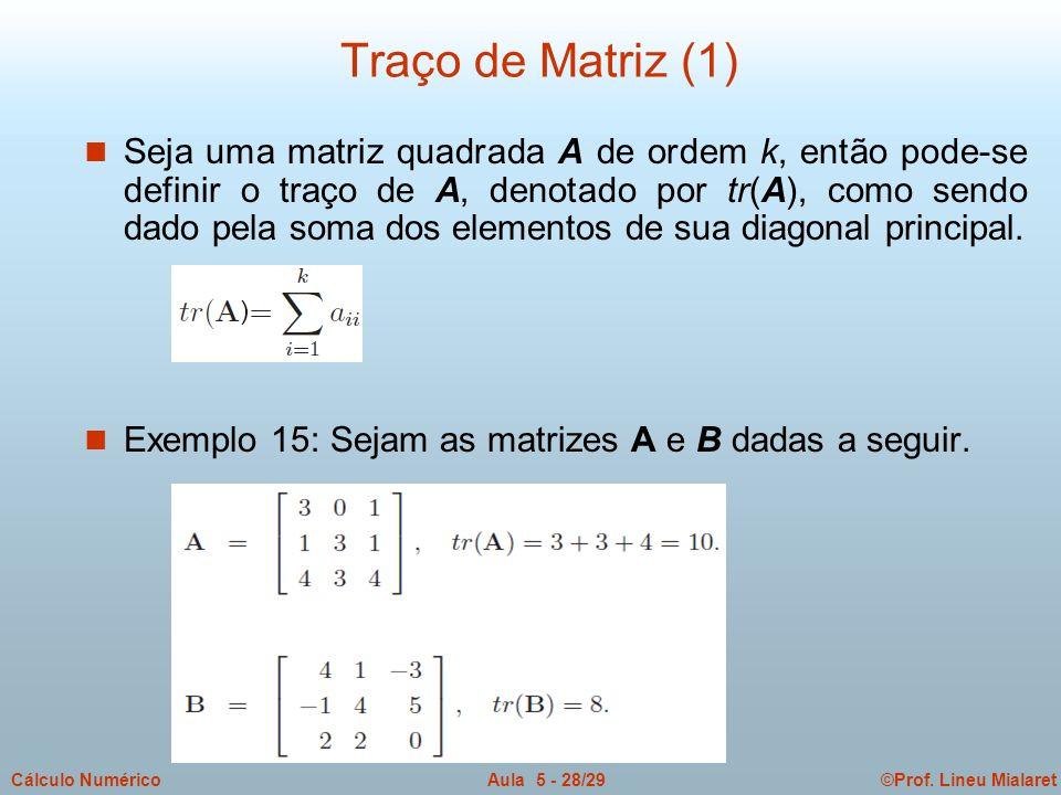 Traço de Matriz (1)