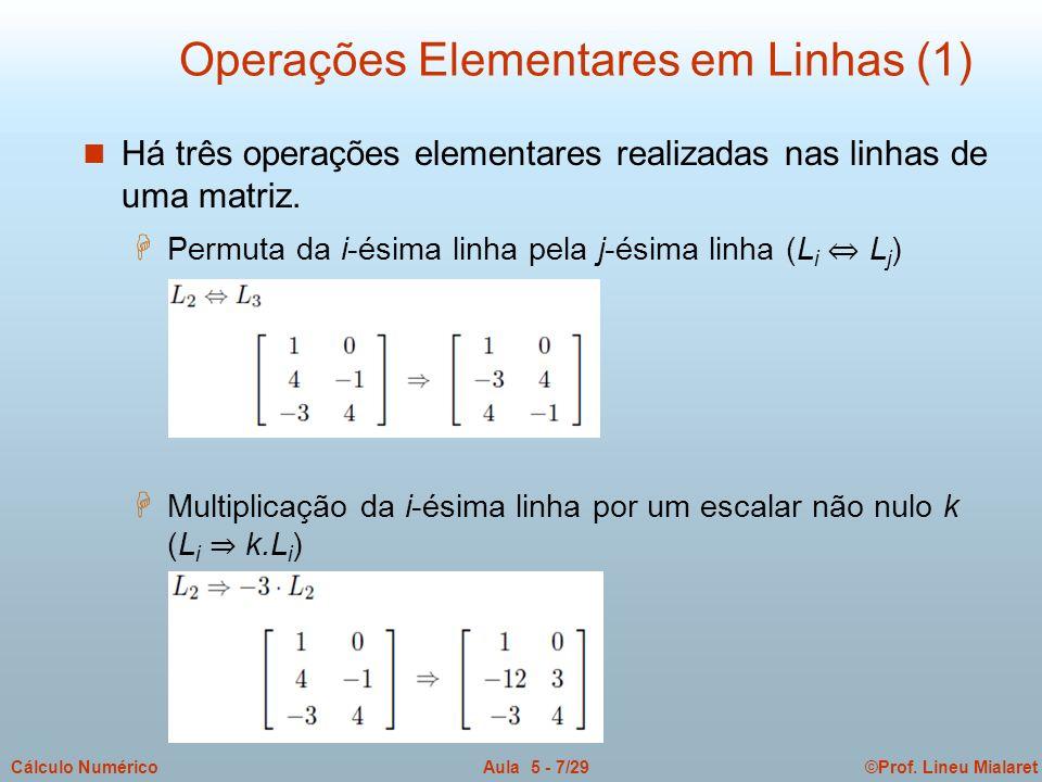 Operações Elementares em Linhas (1)