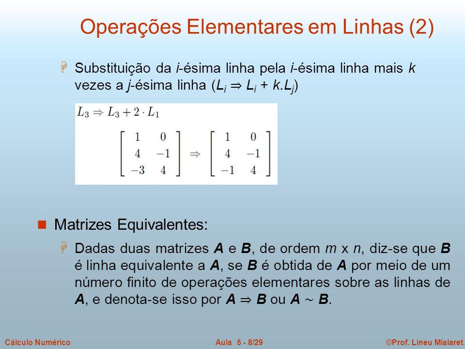 Operações Elementares em Linhas (2)