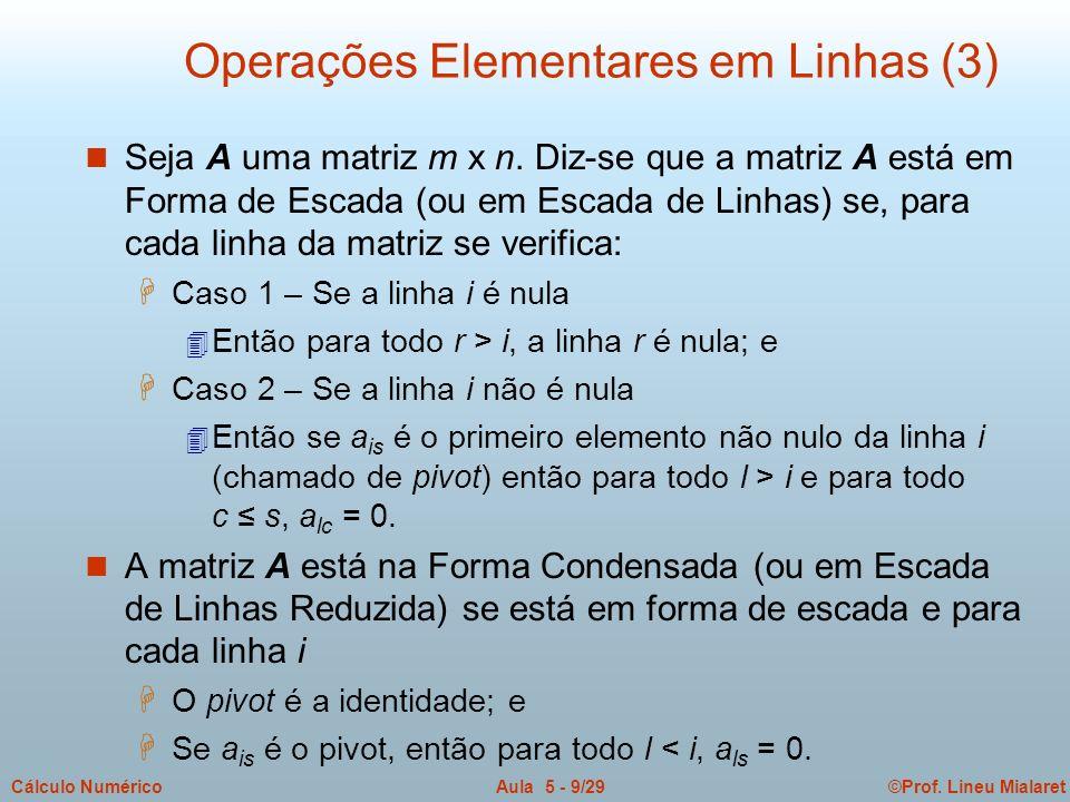 Operações Elementares em Linhas (3)