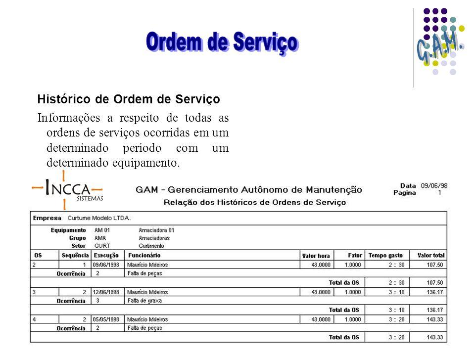 Histórico de Ordem de Serviço