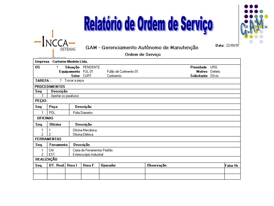 Relatório de Ordem de Serviço