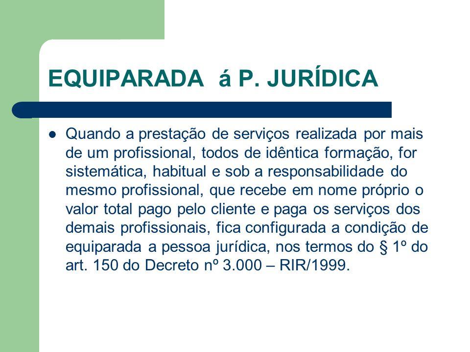 EQUIPARADA á P. JURÍDICA