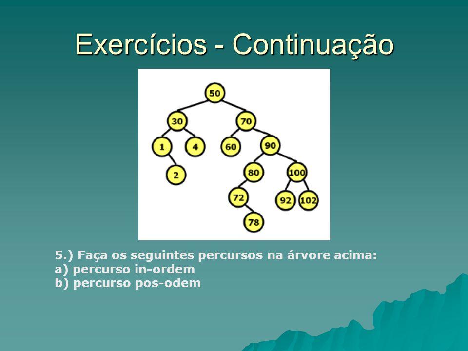 Exercícios - Continuação