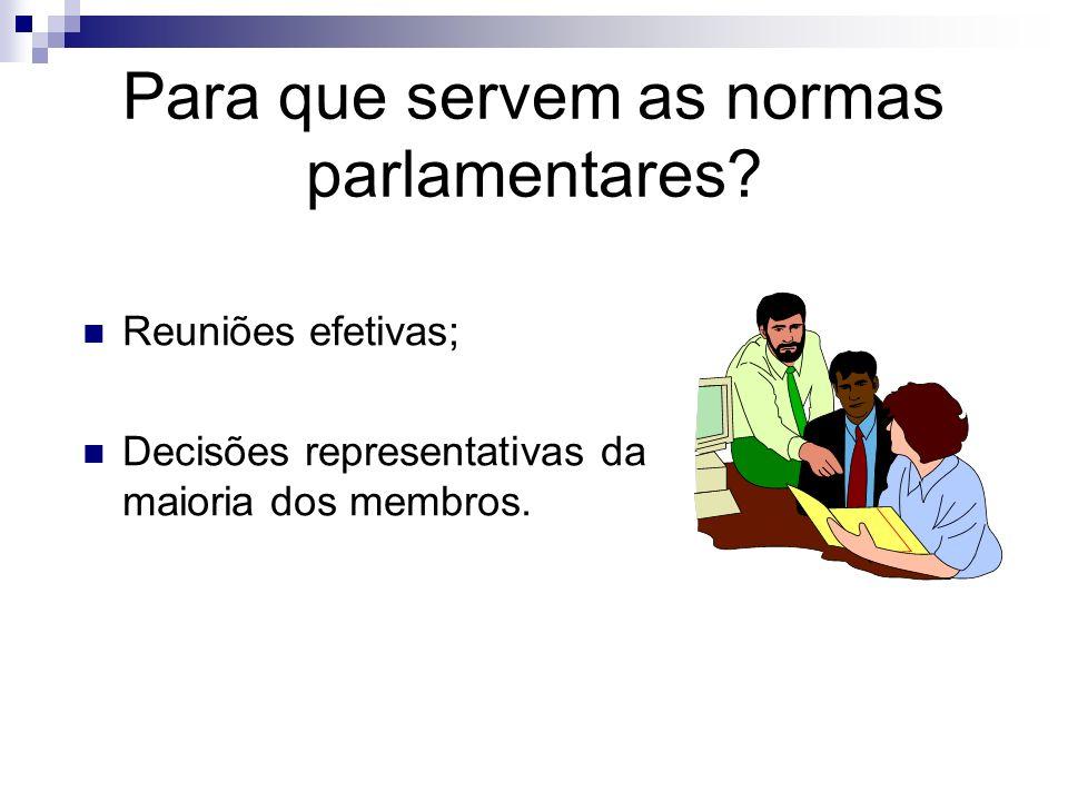 Para que servem as normas parlamentares