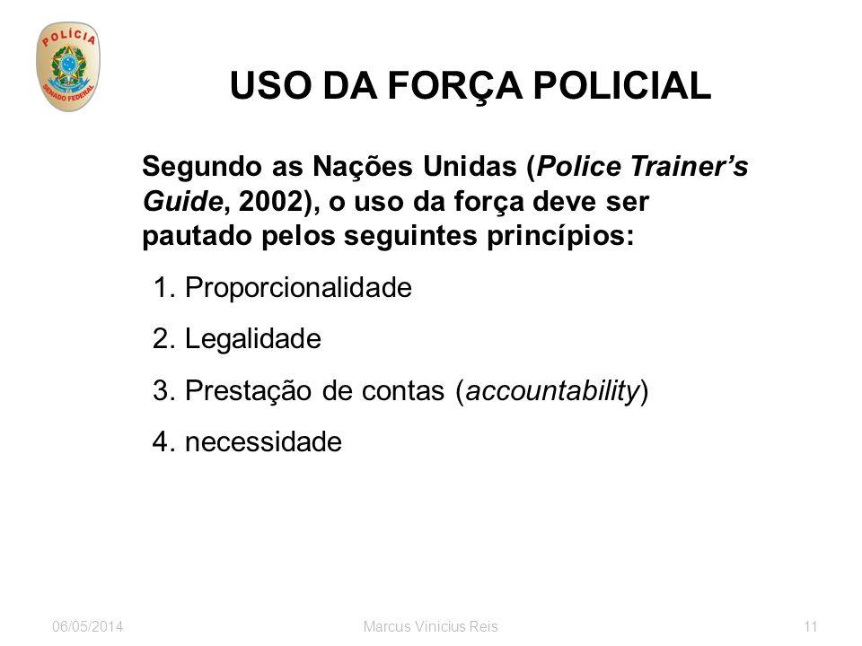 USO DA FORÇA POLICIAL Proporcionalidade Legalidade