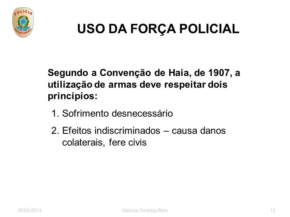 USO DA FORÇA POLICIAL Sofrimento desnecessário