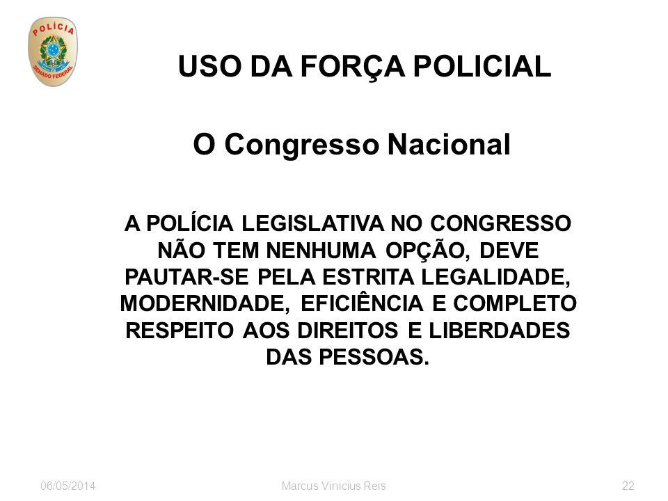 USO DA FORÇA POLICIAL O Congresso Nacional