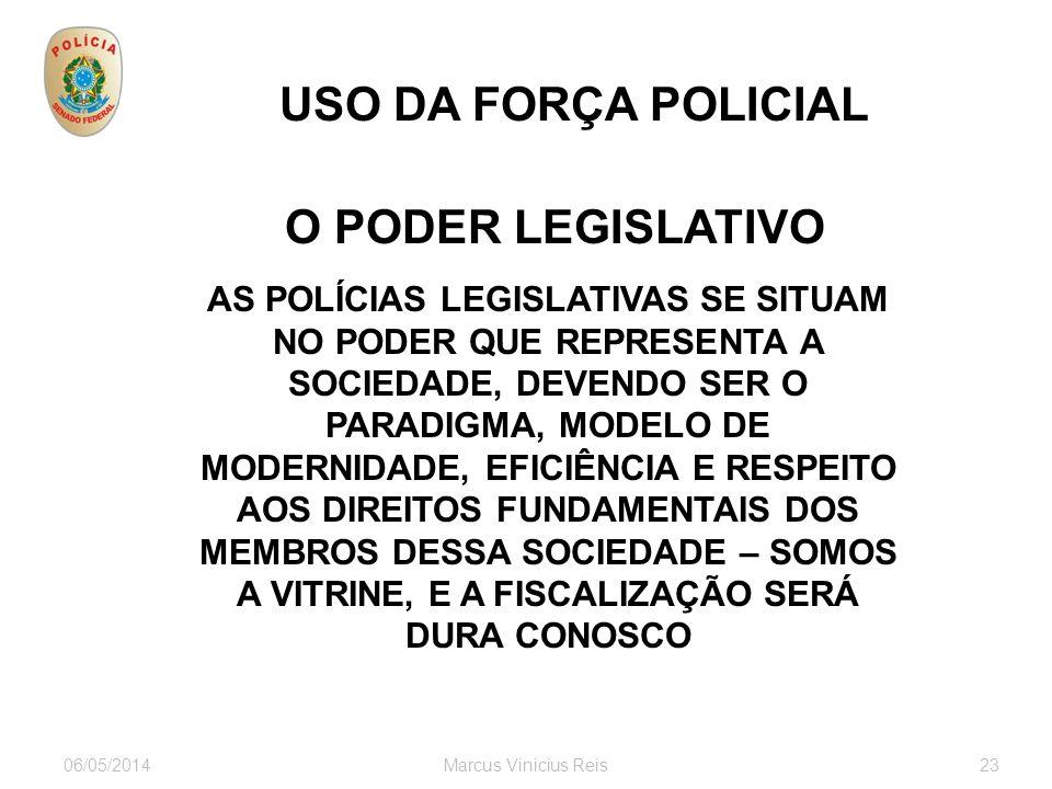 USO DA FORÇA POLICIAL O PODER LEGISLATIVO